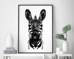 poster a4 wohnzimmer zebra etsy poster kunstdruck zebra