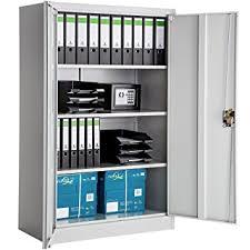 bureau m allique tectake armoire de bureau metallique verrouillable avec étagères