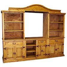 Rustic Pine Entertainment Center