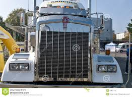 Kenworth KW Semi Truck - Grill Editorial Photography - Image Of ...