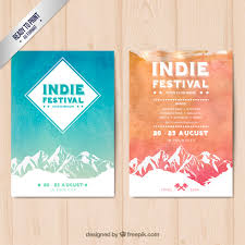Indie Festival Posters Free Vector