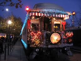 Christmas Tree Train And Santa Shopper