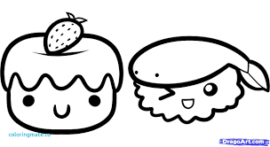 Draw So Cute Coloring Pages New Food Lovely Sweets Kawaii Nurie