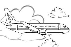 Airline Jet Airplane Coloring Page