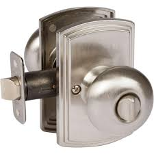 Kwikset Bed And Bath by Kwikset Cove Satin Nickel Bed Bath Knob 300cv 15 6al Rcs The