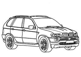 BMW Car X5 Type Coloring Pages