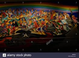 denver international airport murals stock photo royalty free