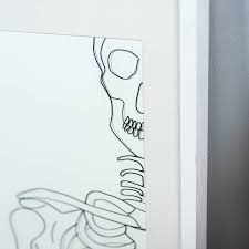 Framed Original 2D Wire Inside Skeleton Artwork