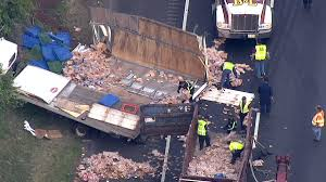 Deli Meat, Bread Spill Onto New Jersey Highway After Truck Crash ... Investigators Probe Cause Of School Bus Crash That Killed 2 Naples Nj Transit Bus Driver Killed After Headon Crash With Garbage Truck Truck Crashed Into A Wooded Area Goffle Brook Park In New Jersey Police 3 Seriously Injured In Woman Struck By Dump Union Citytuesday Morning 1 Cop Dead Injured After Headon Nyc The Morning Call Hurt On Route 70 Pemberton Twp Two 43 Torn Apart Tanker Accident Turnpike Dozens When Collides With
