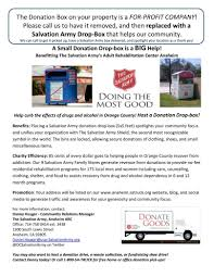 Salvation Army (ocsalvationarmy) On Pinterest Roseburg Salvation Army Installs Four Drop Boxes Outside For After Wants To Organize Joint Rponses Disasters The Disappoints Huffpost Dation Pickup Request Habitat Humanity Of Greenville County Shopping At Thrift Stores In Brooklyn Murray Dunn Gm Is A Nipawin Buick Chevrolet Gmc Dealer And New Kmov St Louis Helps So Many Our C Md On Twitter Addition 2 Disaster Home Please Truck Donated Fort Smith Goodwill Industries Middle Tennessee Inc Services