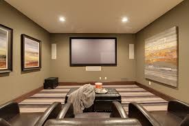 Home Theater Painting Ideas Traditional With Olive Painted Wall Step Stool