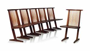 GEORGE NAKASHIMA (1905-1990) | A GROUP OF SIX 'CONOID' DINING CHAIRS ... Nakashima Chair Couch Potato Company Chairs George Woodworkers Grass Seat At 1stdibs Nakashima Valuations Browse Auction Results Meartocom Designer Fniture Own The Original Wyeth For Sale Value Id F Medrermainfo Trestle Ding Table Converso Captain39s By At White Building Some Inspired Shop Update October 30 Room 21 Custom Style By Greg Pilotti Maker Orge Nakashima 051990 A Walnut Ding Table With Ten
