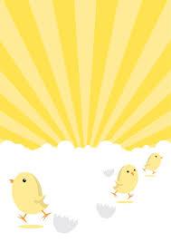Easter Chicks Poster Background