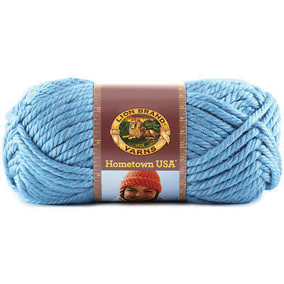 Lion Brand Yarn 135-107L Hometown USA Yarn - Charlotte Blue, 5oz