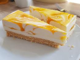 marmorierte mango joghurt torte