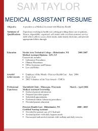 Resume Objective Examples For Medical Office Assistant Assis Resumes Templates