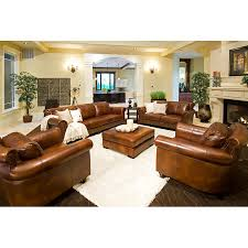 Paladia Leather Loveseat In Rustic Brown