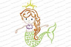 Mermaid Outline Embroidery Design Kris Rhoades