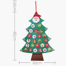 Christmas Advent Calendar Felt Countdown Calendars Hanging Christmas