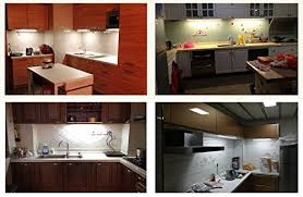 efrank set of 4 led light bar kitchen cabinet led l white