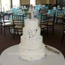 4 Tier Buttercream Birch Bark Wedding Cake On Central