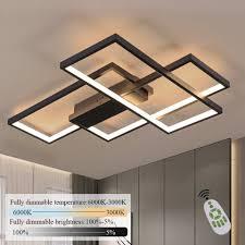 zmh led deckenleuchte deckenle dimmbar mit fernbedienung modern 65w geometrisch multifunktional für wohnzimmer schlafzimmer kaufen otto