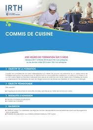 emploi commis de cuisine formation pour demandeurs d emploi commis de cuisine concernant
