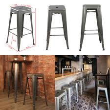 Item 3 SETS OF 4 TOLIX STYLE RUSTIC VINTAGE METAL STOOLS DESIGN KITCHEN DINING SEATING