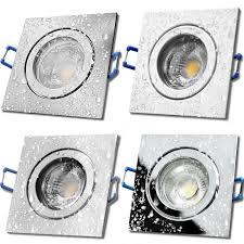 5w led bad einbaustrahler marin 230 volt 90 x 90 mm ip44 quadratisch 400 lumen