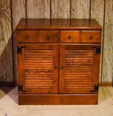Ethan Allen Maple Dry Sink by Ethan Allen By Baumritter Maple Cabinet With Shutter Doors Ebth