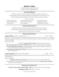 Business Banker Resume Commercial Banking Of A Sample For An Investment