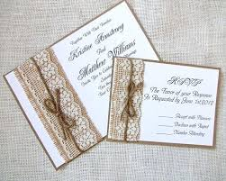 Burlap Wedding Invitations Cheap And Lace Australia Printed Uk Handmade