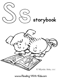 Alphabet Letter S Coloring Page Story Book