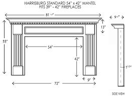 harrisburg standard size mantel wood fireplace fireplace mantel