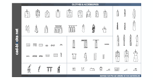 others cad blocks clothes shoes towels and accesories in front