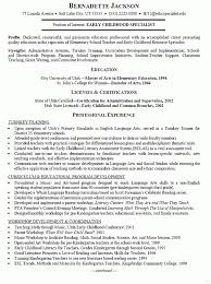Download Our Sample Of Early Childhood Resume Examples Ideas Now 10 Unique