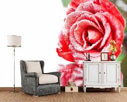 papel de parede closeup rot schnee blumen foto tapete wohnzimmer schlafzimmer tv hintergrund küche tapeten wohnkultur