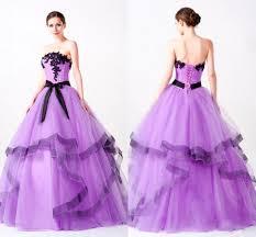 light purple ball gown quinceanera dresses strapless lace applique
