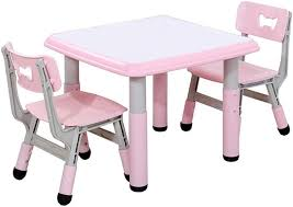 XUERUI Table Chairs Set, Kids Furniture Toddler, Adjusted ...