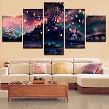 5 stück gerahmte harry potter hogwarts für home office decor wandbilder für wohnzimmer büro 5 stück medium 20 x 35 cm x 2 stück 20 x 45 cm x 2