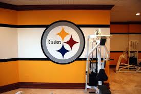 Pittsburgh Steelers Bathroom Set by Pittsburgh Steelers 1970 U0027s Locker Room Mural By Tom Taylor Of Wow