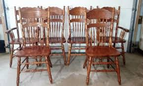 Press Back Chairs Oak by Auction July 8 2017 9 30 Am Day U0027s Auction U0026 Realty