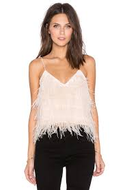 lucy paris tiny dancer feather cami in white revolve clothes