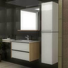 eiche badmöbel keramikwaschbecken mit unterschrank spiegel waschbeckenunterschrank waschtisch badmöbel