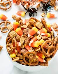 Pumpkin Spice Chex Mix With Candy Corn by Halloween Chex Mix With Candy Corn And Maple Peanuts