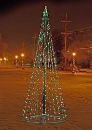 Telescoping Flagpole Multi Color Christmas Tree Display