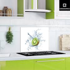 kitchen glas spritzschutz splashing kiwi 50 cm x 90 cm