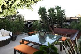 san francisco horizontal privacy fence patio modern with orange