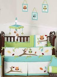Turquoise Owl Baby Bedding 9pc Crib and Nursery Set by Sweet Jojo