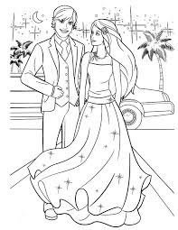 Barbie And Ken Going To Prom Party Coloring Pages